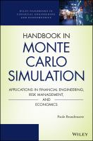 Handbook in Monte Carlo simulation [electronic resource] : applications in financial engineering, risk management, and economics