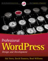 Professional WordPress : design and development