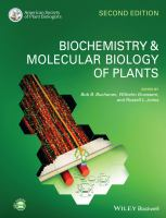 Biochemistry & molecular biology of plants /