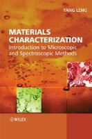 Materials characterization [electronic resource] : introduction to microscopic and spectroscopic methods