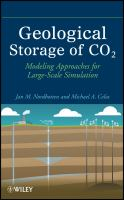 Geological storage of CO2 : modeling approaches for large-scale simulation