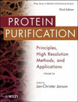 Protein purification [electronic resource] : principles, high resolution methods, and applications
