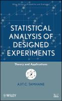 Statistical analysis of designed experiments [electronic resource] : theory and applications