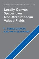 Locally convex spaces over non-Archimedean valued fields [electronic resource]