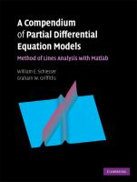 A compendium of partial differential equation models [electronic resource] : method of lines analysis with Matlab