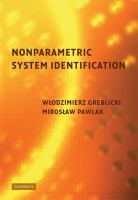 Nonparametric system identification [electronic resource]