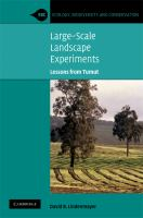 Large-scale landscape experiments [electronic resource] : lessons from Tumut