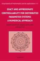 Exact and approximate controllability for distributed parameter systems [electronic resource] : a numerical approach