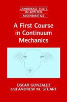 A first course in continuum mechanics [electronic resource]