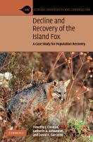 Decline and recovery of the Island Fox [electronic resource] : a case study for population recovery