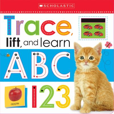 "Book Cover - Trace, lift, and learn : ABC 123 "" title=""View this item in the library catalogue"