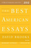 The Best American Essays 2012