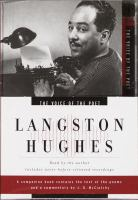 VOICE OF THE POET, THE - LANGSTON HUGHES