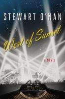 Cover Image for West of Sunset by Stewart O'Nan