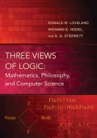 Three views of logic : mathematics, philosophy, and computer science