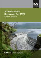 A guide to the reservoirs act 1975 [electronic resource]