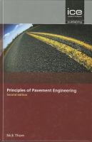 Principles of Pavement Engineering [electronic resource]