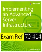 Exam ref 70-414 : implementing an advanced server infrastructure