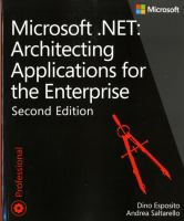 Microsoft.NET : architecting applications for the enterprise