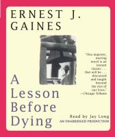 A LESSON BEFORE DYING (CD)