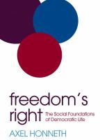 Freedom's right : the social foundations of democratic life