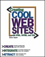 Creating Cool Web Sites with HTML, XHTML, and CSS [electronic resource]