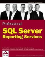Professional SQL Server Reporting Services [electronic resource]