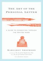 The art of the personal letter : a guide to connecting through the written word