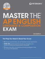 Peterson's Master the AP English Language & Composition Exam