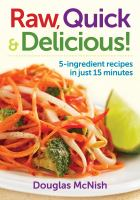 book cover of raw quick and delicious