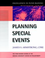 Planning Special Events [electronic resource]