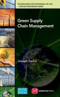 Green supply chain management [electronic resource]