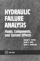Hydraulic Failure Analysis [electronic resource]: Fluides, Components and System Effects