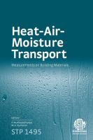 Heat-air-moisture transport [electronic resource] : measurements on building materials