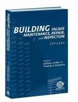 Building Facade Maintenance, Repair, and Inspection [electronic resource]