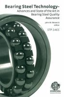 Bearing steel technology : 7th volume [electronic resource] / advances and state of the art in bearing steel quality assurance.