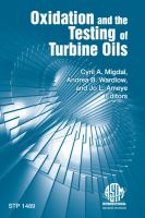Oxidation and the testing of turbine oils [electronic resource]