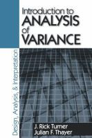 Introduction to analysis of variance [electronic resource] : design, analysis, & interpretation