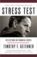 Cover of the book Stress test : reflections on financial crises