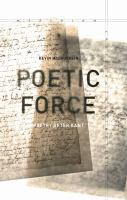 Poetic force : poetry after Kant