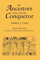 My Ancestors Came With the Conqueror