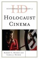 Historical dictionary of Holocaust cinema cover image