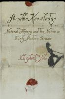 Sociable knowledge : natural history and the nation in early modern Britain /