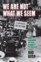 We Are Not What We Seem [electronic resource]: Black Nationalism and Class Struggle in the American Century