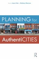 Planning for authenticities /