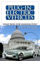 Plug-in electric vehicles : what role for Washington?