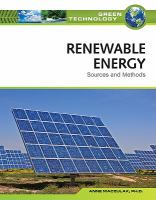 Renewable energy : sources and methods