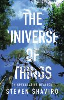 The universe of things : on speculative realism