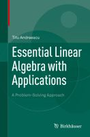 Essential Linear Algebra with Applications [electronic resource] : A Problem-Solving Approach