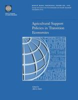 Agricultural Support Policies in Transition Economies [electronic resource]